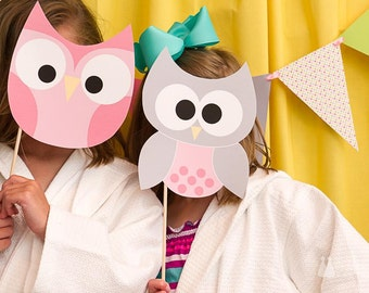 Night Owl Slumber Party PRINTABLE Owl Decals (INSTANT DOWNLOAD) from Love The Day