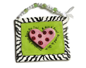Loyal Friend Zebra Print Border Plaque