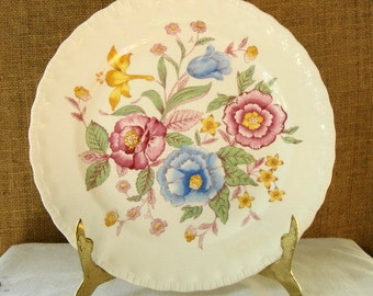 EARLY CENTURY Pope Gosser Dinner Plate Vintage Ironstone Plate Cottage Chic Decor Serving Plate Antique Ironstone Plate