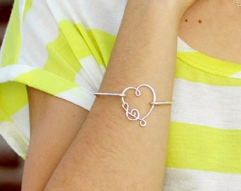 I  Have Music in My Heart Bangle - Sterling Silver, Yellow Gold Filled and Solid Copper