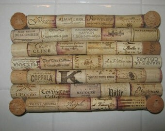 One-of-a-Kind custom-made wine cork trivet - Perfect for the kitchen, dining room, or just decoration!