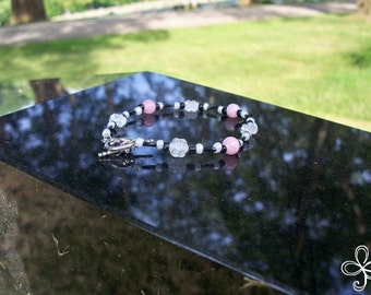 Cyndy Collection:  Black and White and Pink All Over Bracelet