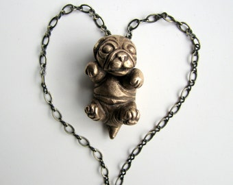 Pug dog puppy pendant