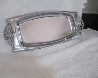 Vintage Chrome Tray 1970s by Gatormom13