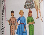 Vintage 1960's Woman's Pattern - Dress with Two Skirts - Simplicity 5036 - Size 10, Bust 31, Uncut