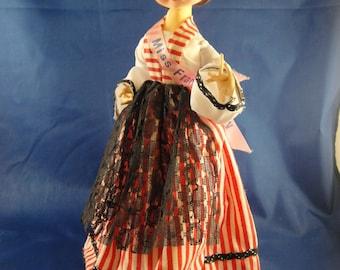 Miss France Big Eyed Stockinette Doll Made in Korea