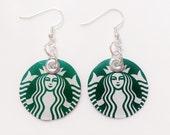 Starbucks Earrings Recycled Jewelry Women Teen Girls or Gift by Absolute Jewelry