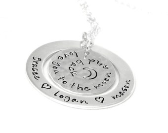 I Love You to the Moon and Back -  Personalized Necklace - Jewelry