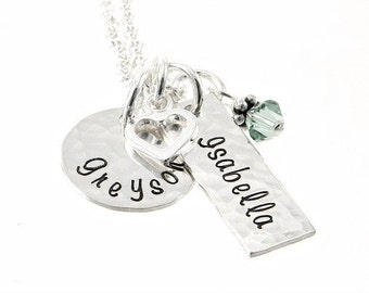 Mommy Necklace - Personalized Jewelry - Hand Stamped