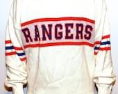 VERY RARE 1970s Authentic New York Rangers Sweater Medium