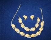 Parure Set Autumn Spectacular, Necklace. Bracelet, Earrings