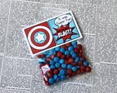 "Superhero Collection.Favor Tag (5"" wide fold over). DIGITAL DOWNLOAD. DiY Printable Design. Pinkadot Shop"