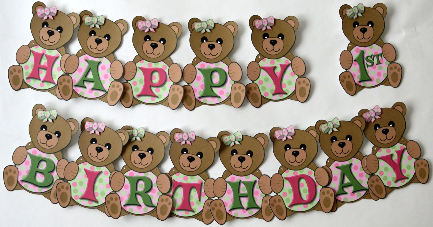 teddy bear picnic first birthday party or baby shower