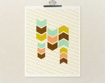 Love Sans Loss No.3 // Geometric, Abstract, Chevron, Design, Modern Art, Color, Digital Print, Giclee, Arrows, Poster Print, Art Poster