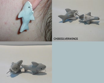 Great White Shark Bite Earrings