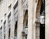 Paris Photography - Palais Royal - Paris Architecture Print - Photo of Paris Parisian Decor Cream Black Wall Art French Palace Lamps