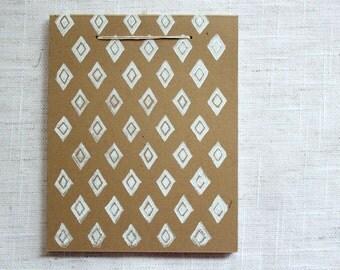 Diamond Mini Notebook - White/Kraft