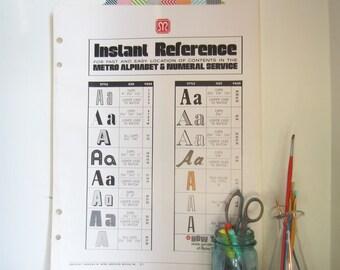 "Vintage Typography Sample Index Poster - 16.5"" x 22""  Letter A"
