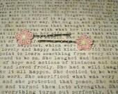 Crochet Flower Bobby Hair Pins