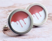 Halloween Cufflinks Dripping Blood Vampire Cufflinks