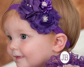 Baby headband, baby headbands, Purple headband,newborn headband,shabby chic headband, Halloween Headband, baby headband,flower headband.