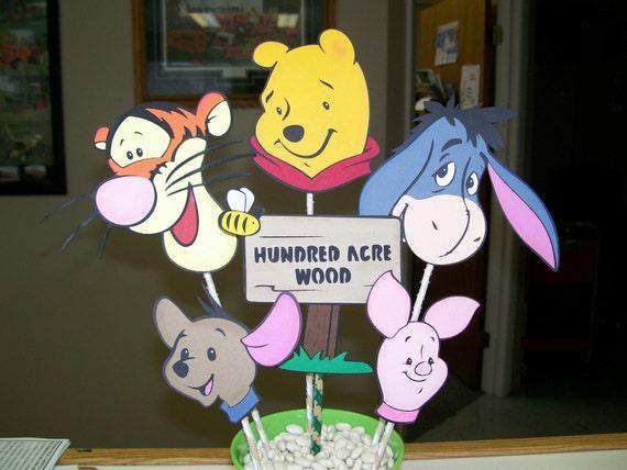 Katie H Custom Order - Winnie the Pooh Birthday Party Centerpiece on Sale