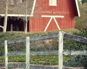 Landscape photography Red  Barn Rustic country photography Country Wall Decor Home decor Fine Art Photography Print