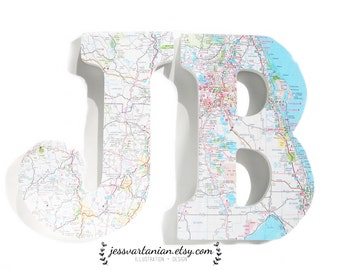 Two Custom Location Map Letters