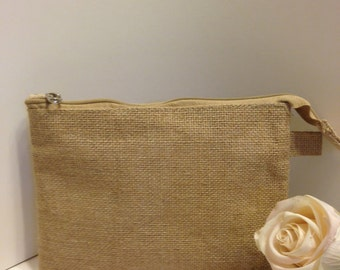 7 burlap bags 10 x 7 supplies diy bridesmaids bags for Burlap bag craft ideas