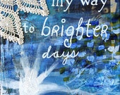 8x10 inspirational quote painting - Mixed media quote painting