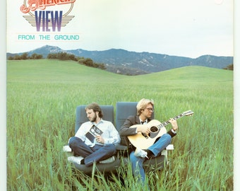 America, View from the Ground, Gerry Beckley and Dewey Bunnell, Soft Rock, Vintage Vinyl Record Capitol LP from 1982