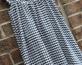 Girls Navy Chevron Angle Sleeve Dress --  Can be monogrammed with purchase of Upgrade