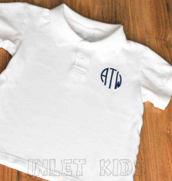 Boys personalized toddler polo shirt personalized by inletkids for Personalized polo shirts for toddlers