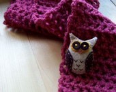 Owl Rose Scarf