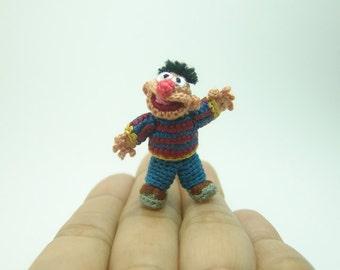 "miniature doll _ crochet  fat muppet _ dollhouse tiny amigurumi _ 1""1/3 inch"