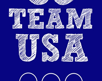 Team USA Olympic 5x7 Printable Sign 5 x 7 Picture America