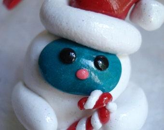 Abominable Snowman Christmas Ornament Polymer Clay Yeti Christmas Ornament Cute Christmas Ornaments Christmas Decoration Bigfoot Ornament