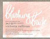 bridal shower invitations - Blushing Bride