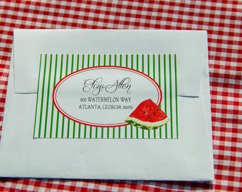 Watermelon Picnic Collection: Printable Return Address Label