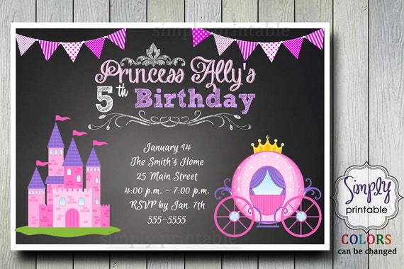 Princess Birthday Invitation (Digital File)