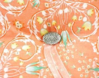 Orange and Aqua Wedding - Bearer Pillow - Floral Ring Bearer Pillow