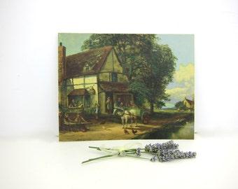 Vintage Cottage Print on Art Board