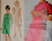 Simplicity #7193 1960s Vintage Sewing Pattern Shift Dress Uncut