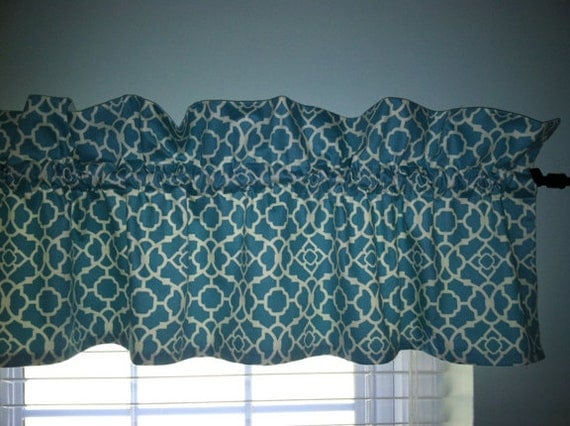 Turquoise Love Aqua Lattice Valance For The By