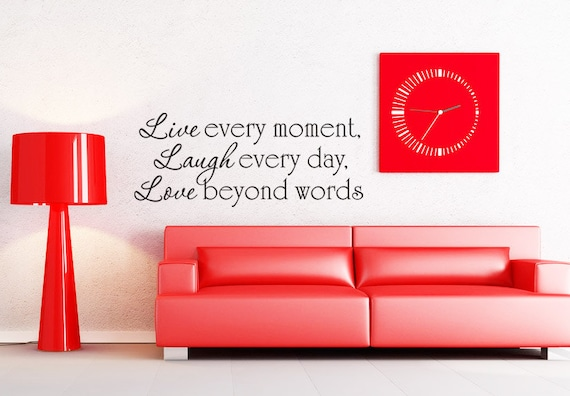 Beyond Words Customizable Wall Decor Kohls : Art wall decals stickers vinyl decal by villagevinepress