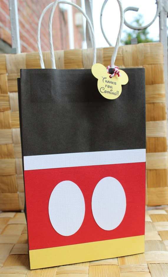 Mickey Mouse Favor Bag Goodie Bag Candy Set Of 12
