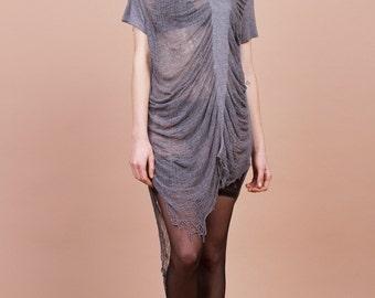 Rippeded Shirt/ Dress Grey