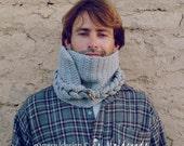 Cowl Crochet Pattern Braided PDF - Unisex winter fall scarf - Instant DOWNLOAD