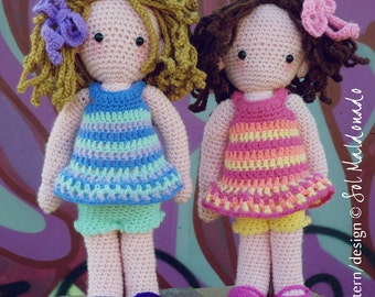Crochet Amigurumi Doll Pattern PDF - Instant Download