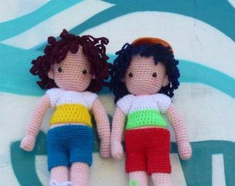 Amigurumi Crochet Pattern Boy Doll PDF - Instant Download